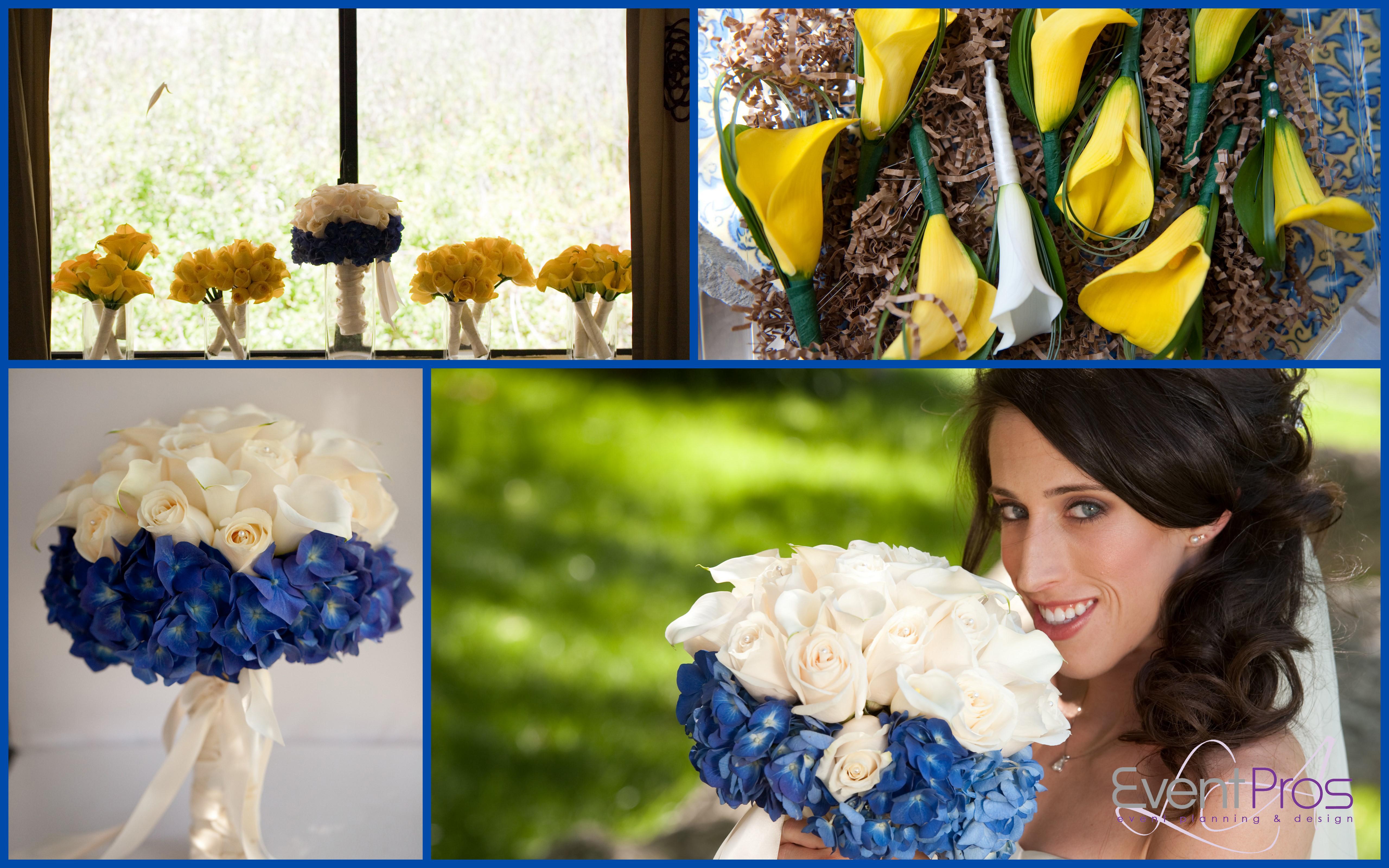 Wedding Yellow: Blue And Yellow Wedding